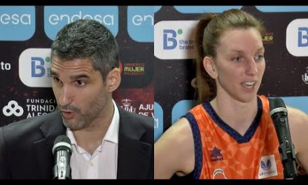 Rubén Burgos y Laura Gil post Semis Copa de la Reina vs Lointek Gernika