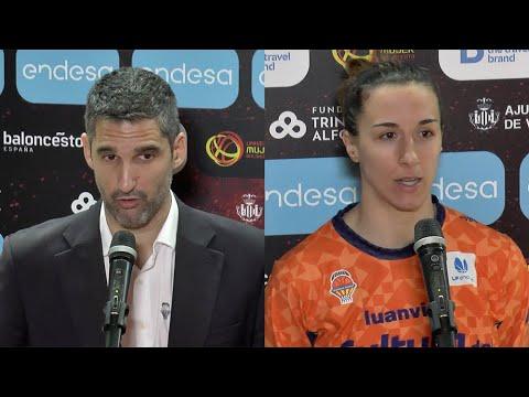 Rubén Burgos y Queralt Casas post Final Copa de la Reina vs Uni Girona