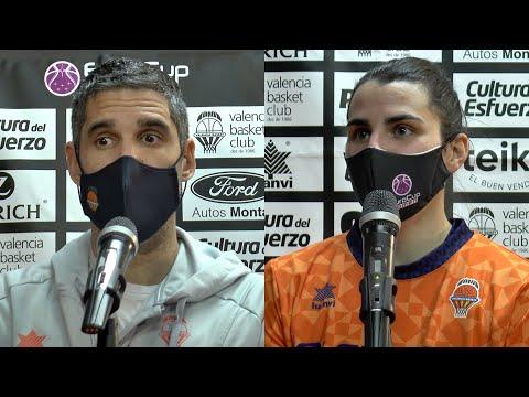 Declaraciones post Octavos Eurocup Women: Rubén Burgos y Leticia Romero