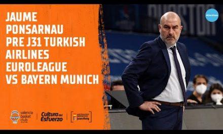Jaume Ponsarnau Pre J31 Euroliga vs Bayern Munich