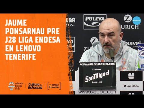 Jaume Ponsarnau pre J28 Liga Endesa en Lenovo Tenerife