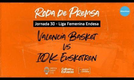 Rueda de prensa post J30 LF Endesa vs IDK Euskotren