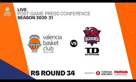 Rueda de prensa post J34 Turkish Airlines EuroLeague vs TD Systems Baskonia