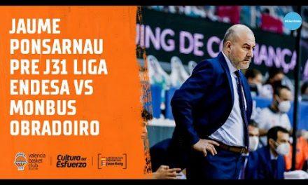 Jaume Ponsarnau Pre J31 Liga Endesa vs Monbus Obradoiro