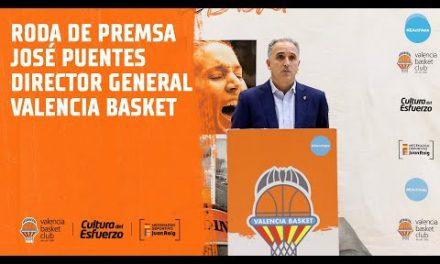 Rueda de prensa íntegra de José Puentes, Director General del Valencia Basket