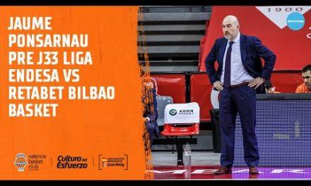 Jaume Ponsarnau Pre J33 Liga Endesa vs Retabet Bilbao Basket