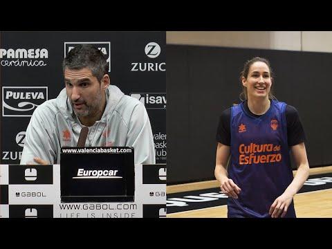 Rubén Burgos y Bec Allen pre P1 Final LF Endesa en Perfumerías Avenida