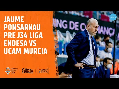 Jaume Ponsarnau Pre J34 Liga Endesa vs UCAM Murcia