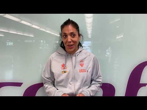 Cristina Ouviña pre P2 final LF Endesa vs Perfumerías Avenida