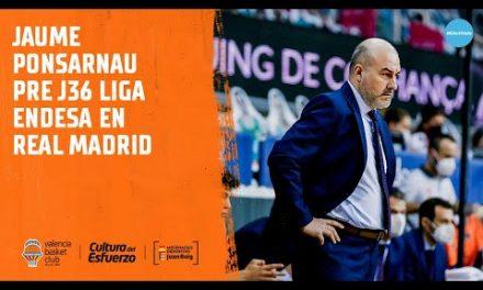 Jaume Ponsarnau Pre J36 Liga Endesa en Real Madrid