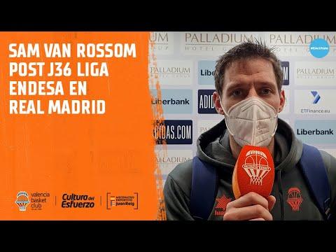 Sam Van Rossom Post J36 Liga Endesa en Real Madrid