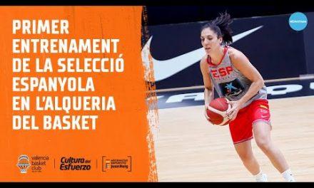 Primer entrenamiento de la Selección Española en L'Alqueria del Basket