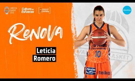 Leticia Romero renueva con Valencia Basket
