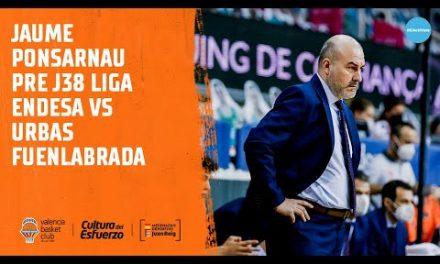 Jaume Ponsarnau Pre J38 Liga Endesa vs Urbas Fuenlabrada