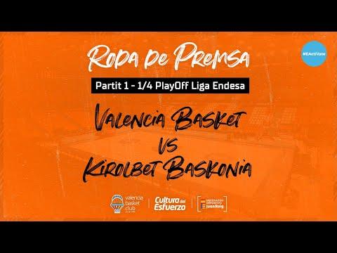 Rueda de prensa post P1 1/4 PlayOff Liga Endesa vs TD Systems Baskonia