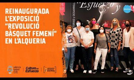 """La exposición """"Revolución Baloncesto Femenino""""  llega a L'Alqueria del Basket"""