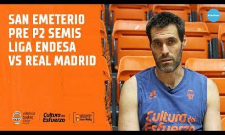 San Emeterio pre P2 Semifinal Liga Endesa vs Real Madrid