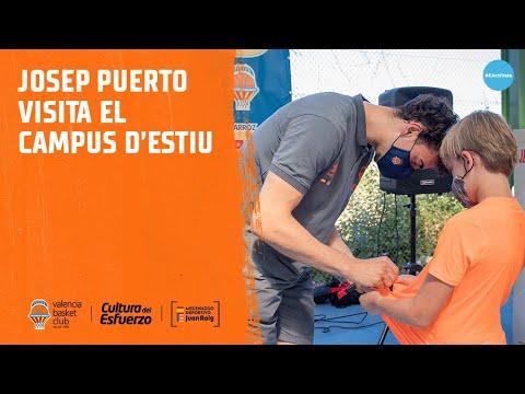 Josep Puerto visita el 2º turno del Campus de Verano en Calvestra