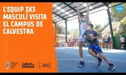 El equipo masculino de 3×3 visita el Campus de Verano