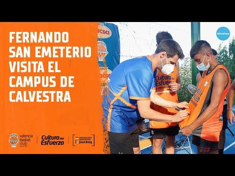 Fernando San Emeterio visita el campus de Calvestra