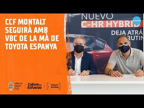 CCF Montalt seguirá junto al Valencia Basket de la mano de Toyota España