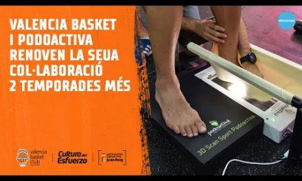 Valencia Basket y Podoactiva renuevan su colaboración 2 temporadas más