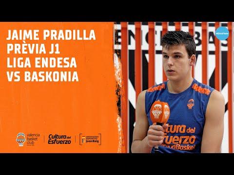 Jaime Pradilla Declaraciones Pre J1 Liga Endesa vs Baskonia