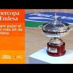 Pasillo y subida del título Supercopa LF Endesa
