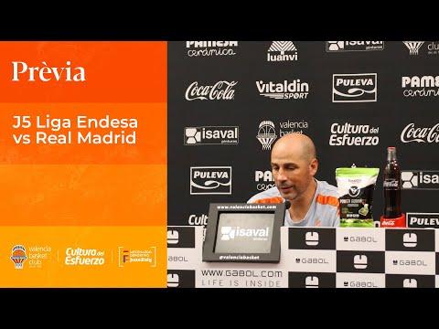 Joan Peñarroya Pre J5 Liga Endesa vs Real Madrid